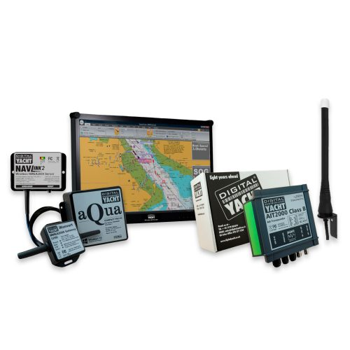 PC Navigation System pack with Marine PC, LCD Screen, AIS Transponder, Wind unit and VHF & GPS antennas
